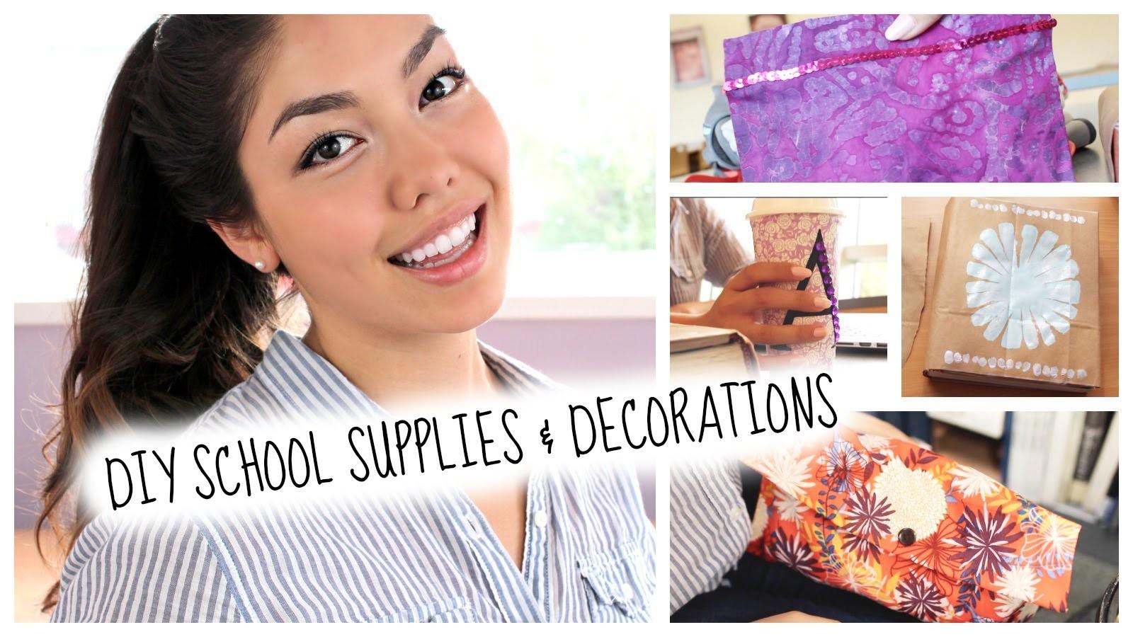 Back to School: DIY School Supplies + Decorations
