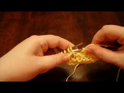 Bramble Stitch - Knitting the Muggle Way, Lesson 4