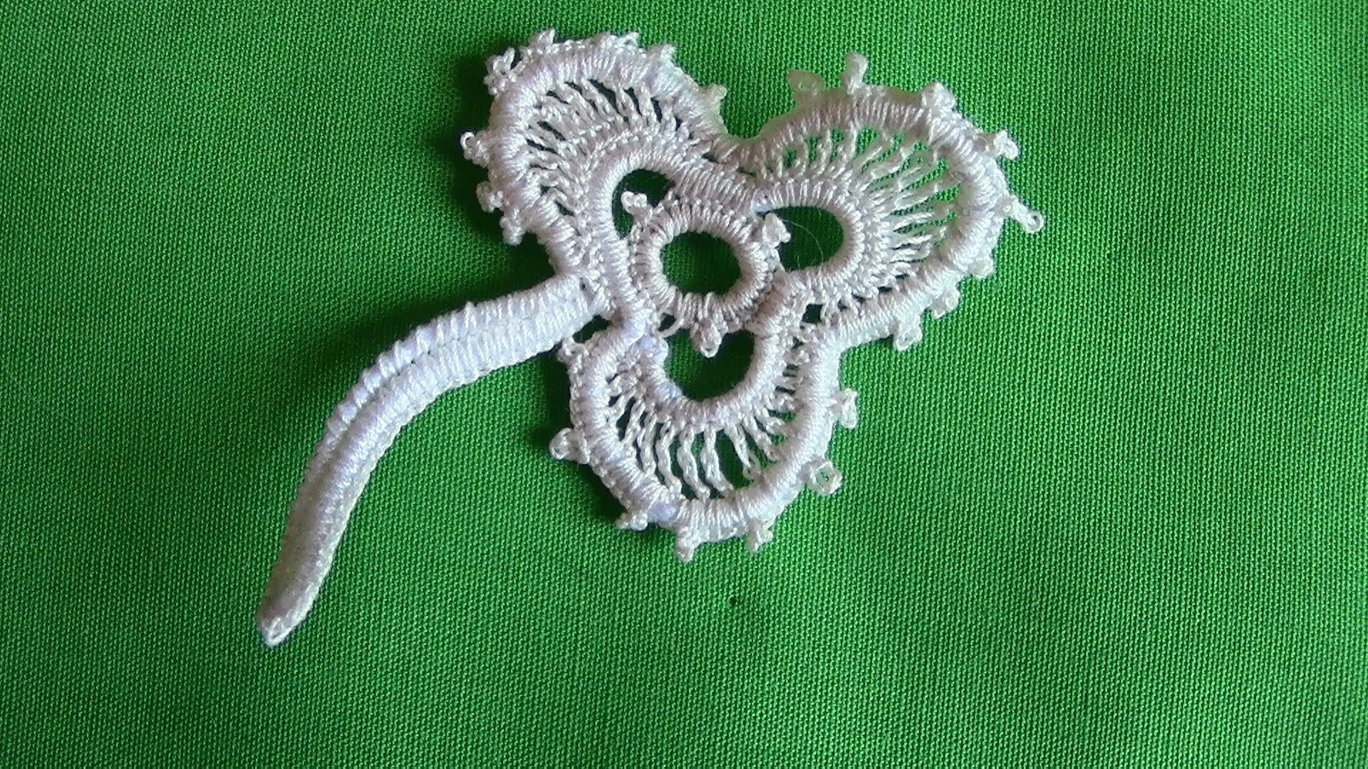 À Shamrock in Irish Crochet Lace