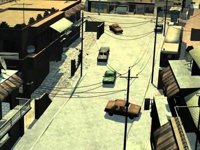 Cod4 map and animated car from craft director tools - 3ds max core23