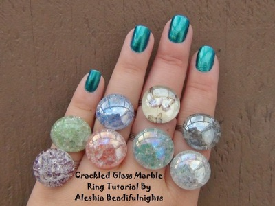 Crackled Glass Marble Ring Tutorial