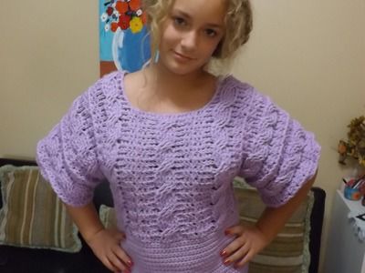 Crochet Cable Top Part 1