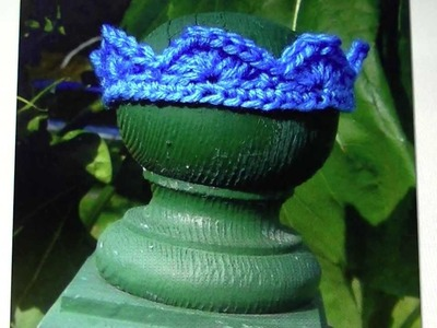 Crochet Crown free written pattern and video tutorial