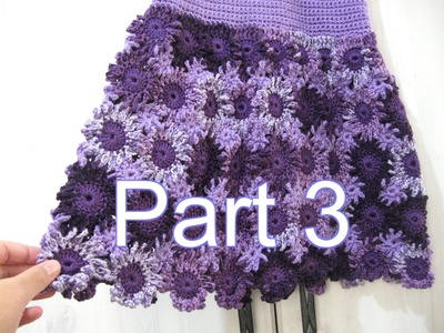 Crochet Flower Dress Part 3 - Crochet Tutorial