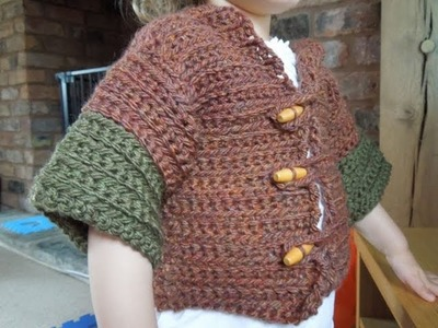 (Crochet) How to crochet a simple cardigan for ages 1-2 years - Part 2.4