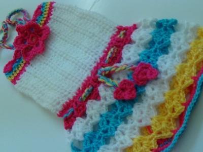 CROCHET SUMMER BABY DRESS PART-3