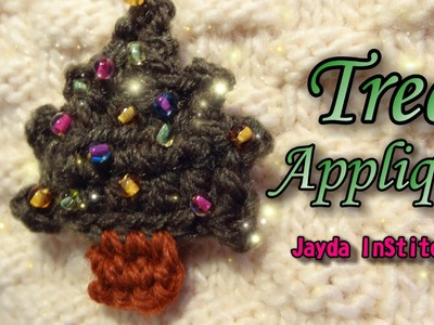 Crochet Tree Applique Tutorial - Decorate For Christmas!
