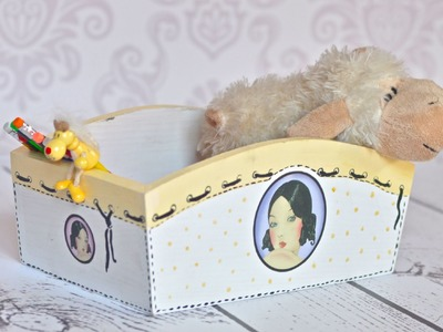 Decoupage tutorial - box for a girl
