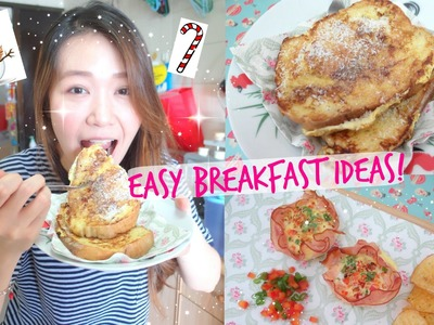DIY Easy Breakfast Ideas!! (Christmas edition!)