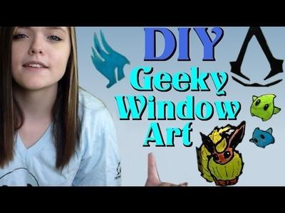 DIY: Geeky Window Art!