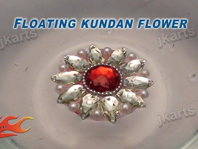 DIY How to make Floating Kundan Flower JK Arts 099