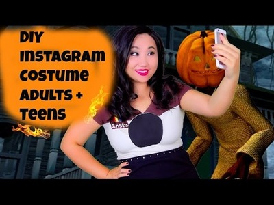 DIY Instagram Halloween Costume - Funny No Sew Last Minute Costumes for Teenagers and adults