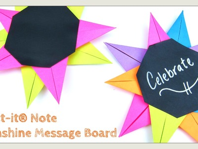 DIY Post-it® Note Crafts - Sunshine Message Board