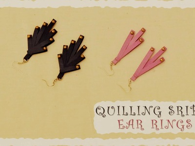 DIY : Quilling Stripes Ear Rings | Quilling Tutorial | Quilling Earrings