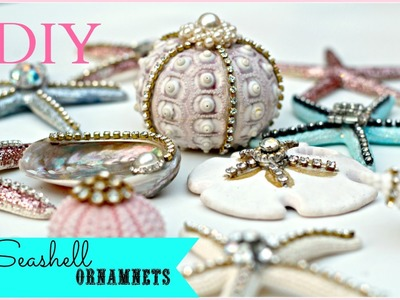 DIY Seashell  Christmas Ornaments