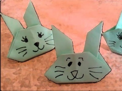 Easter Origami: How to fold an easy origami rabbit   (difficulty 2.10)