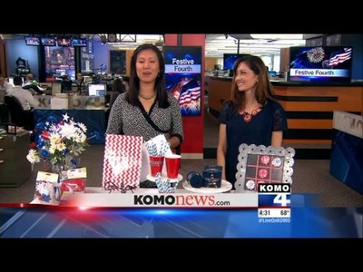 Father's Day Ideas for Kids, 4th of July, and Neon Crafts from KOMO-TV DIY Diva Malia Karlinsky