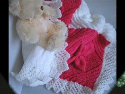 Handknitted baby blankets and shawls.wmv