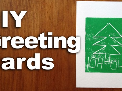 Homemade Cards, DIY Block Printing, Paper Crafting : GardenFork.TV