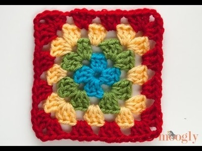 How to Crochet: Multicolor Granny Squares