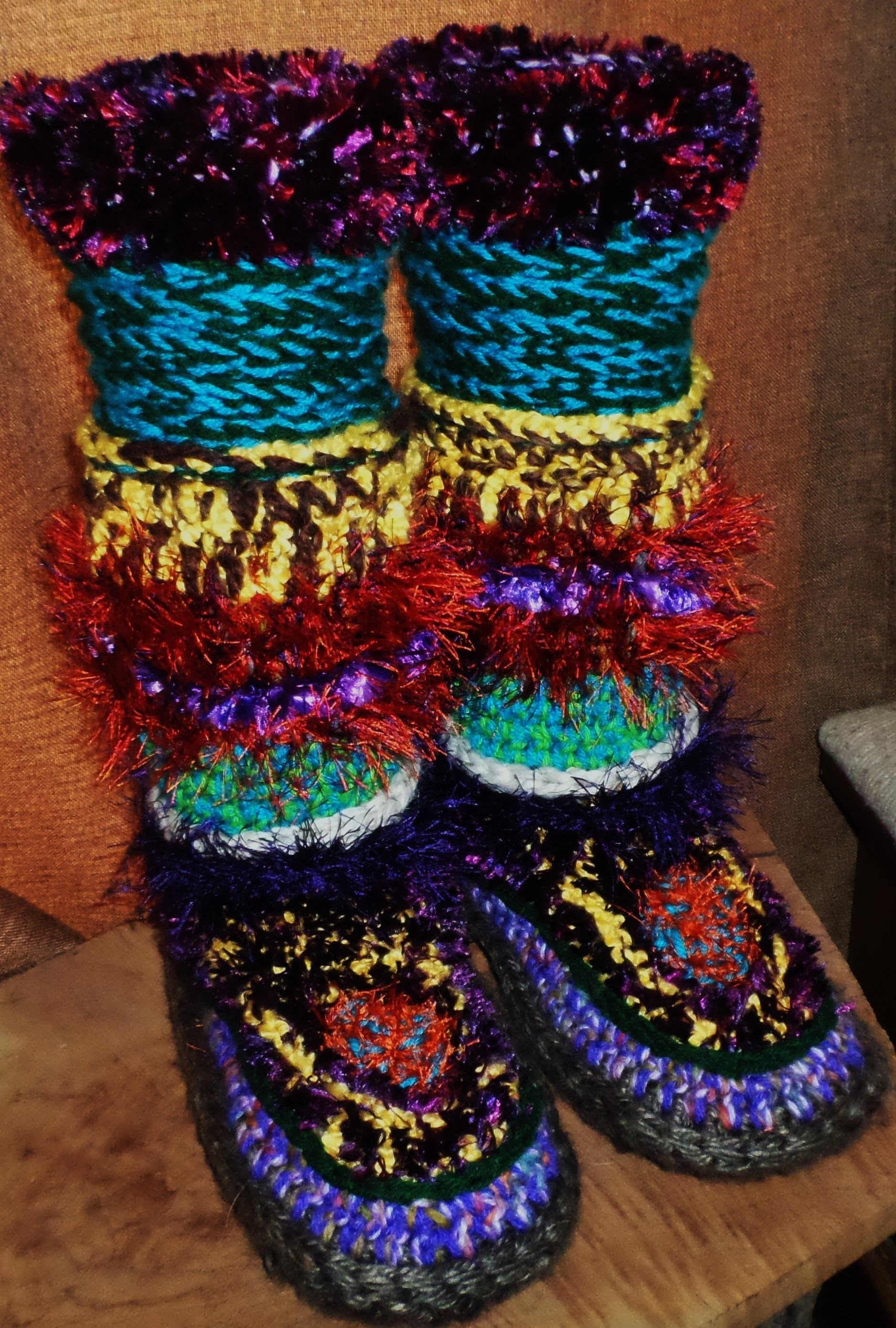 How to Crochet Slipper Boots Tutorial- Part 9 - The Final Act ~