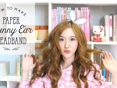 How To: DIY Paper Bunny Ear Headband