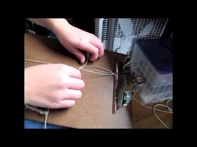 How to make a hemp bracelet!
