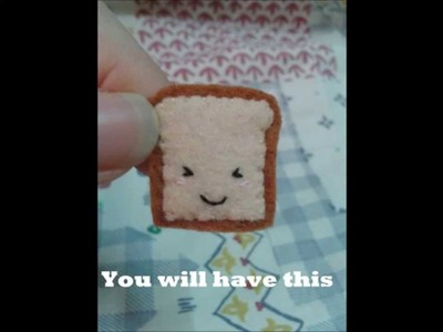 How to make a Mini Bread Plushie Tutorial