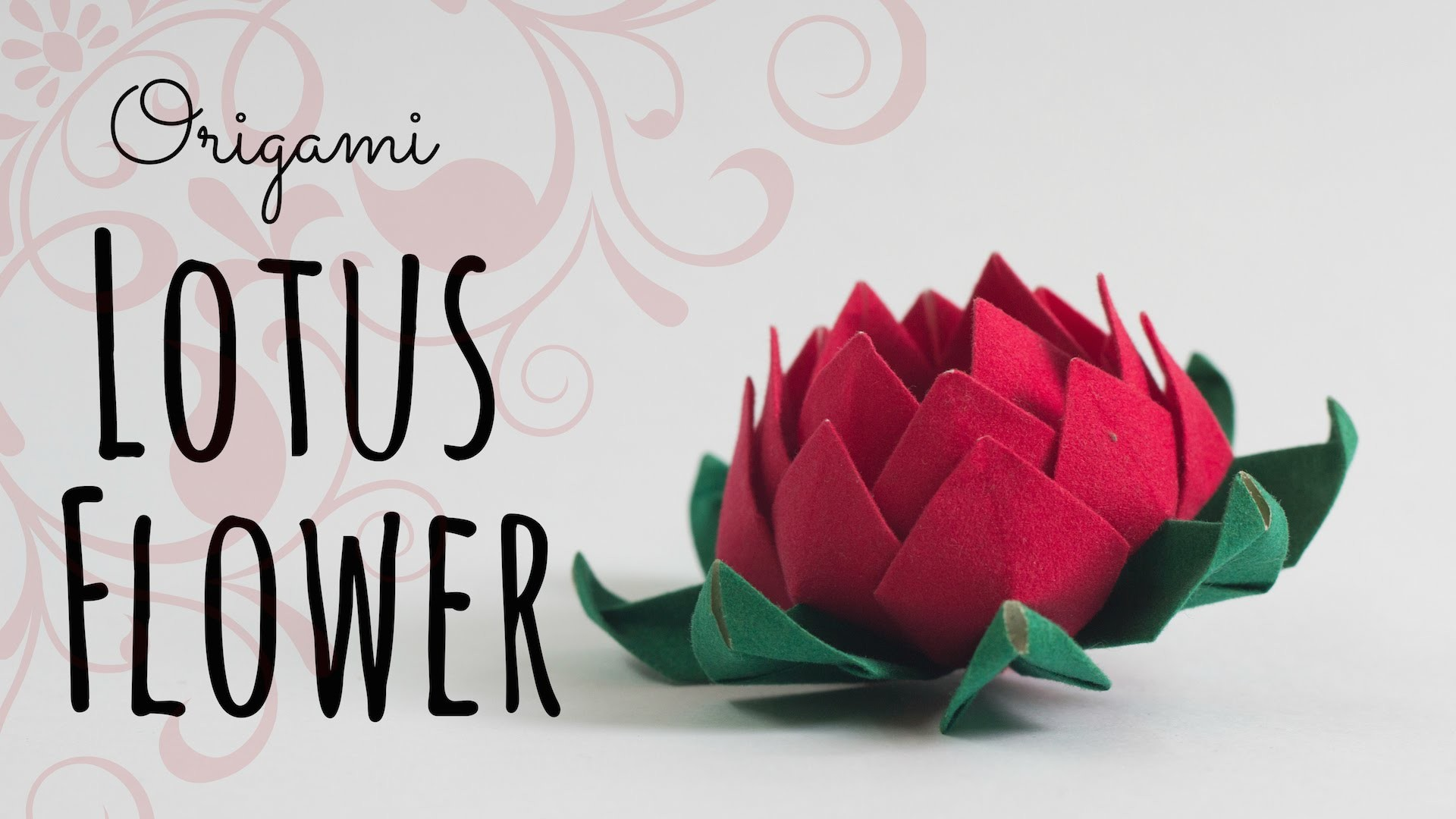 How to make an origami Lotus Flower.