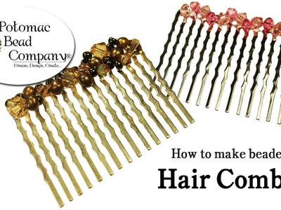 How to Make Beaded Hair Combs