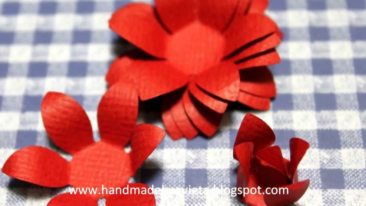 How to make handmade flower with  paper shapers