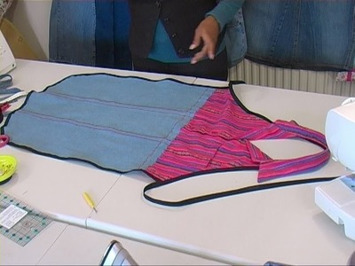 Jeans to Apron (DIY recycle reuse jeans project idea)