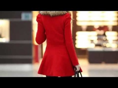 Korean style Long Sleeves Slimming Women's Coat 2014