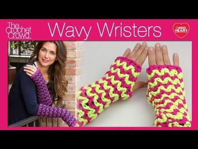 Left Hand: Crochet Wavy Long Wristers