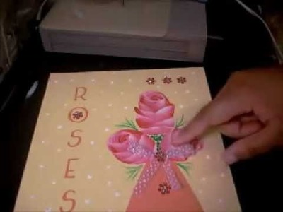 Making Arts & Crafts out of Greeting Card Designs Rose Floral Mixed Media Easy Crafts