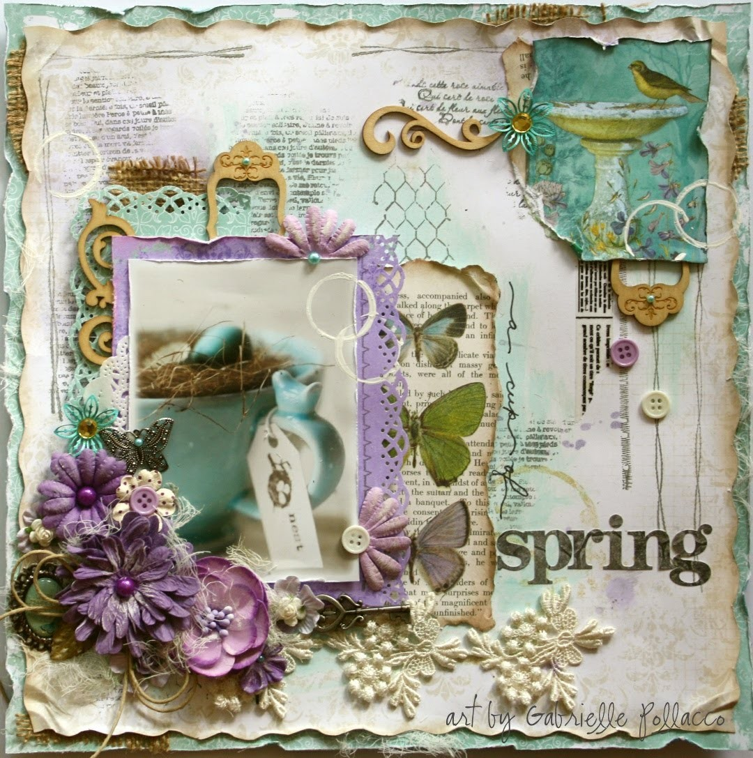 Mixed Media Tutorial   A Cup of Spring