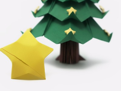 Origami Lucky Stars for the Tree