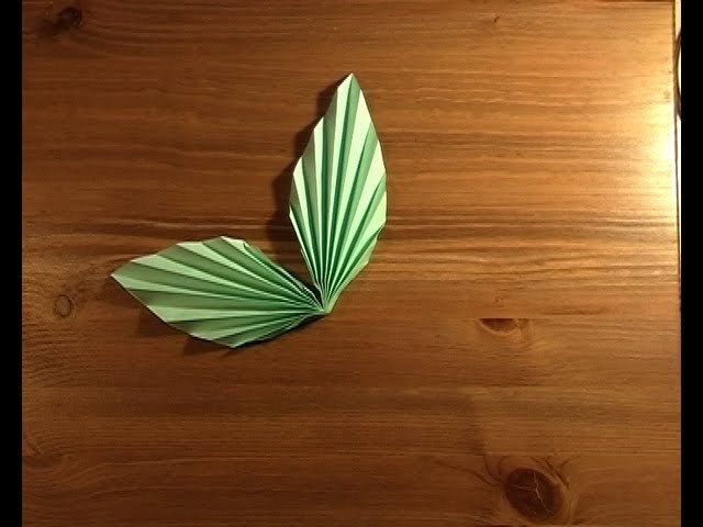 Origami paire de feuilles! pair of leaves