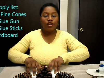 Pine Cone Ornament | Table Centerpiece by Simple Crafts