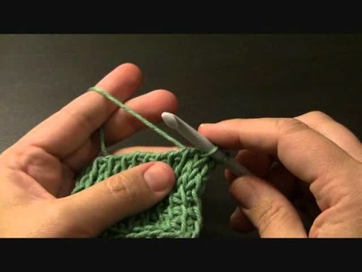 Right and Left leaning Tunisian crochet knit stitches.wmv