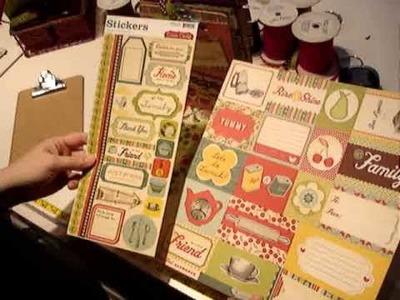 Scrapbook Clipboard Recipe Book.wmv