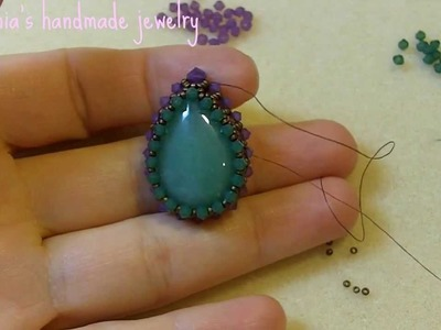 Sidonia's handmade jewelry - How to bezel an 25x18mm drop cabochon