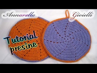 Tutorial presina a uncinetto | How to crochet a pot holder