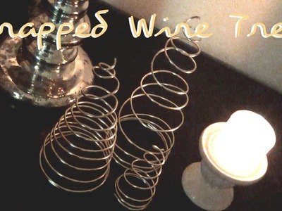 Wrapped Wire Trees ♥ 12 Days of Christmas DIYs 2014 - DAY ONE