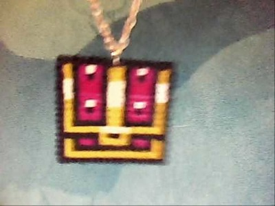 Zelda chest hama bead necklace