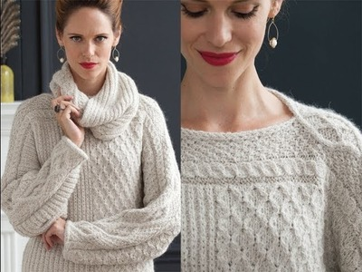 #23 Patchwork Sweater with Cowl, Vogue Knitting Holiday 2013