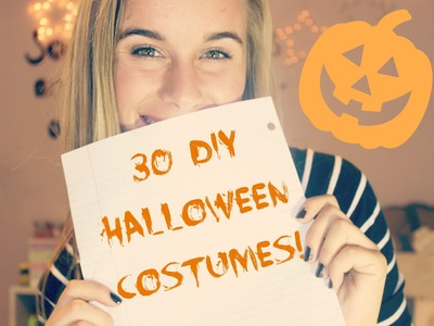 30 EASY DIY HALLOWEEN COSTUME IDEAS!