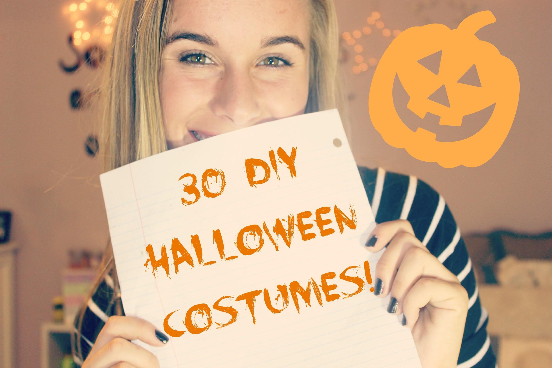 30 EASY DIY HALLOWEEN COSTUME IDEAS!