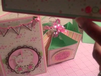 BABY SHOWER CRAFT ITEMS CARDS & A BASKET