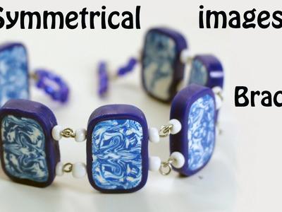Bracelet with Symmetrical Images decoration - Fimo tutorial